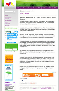 Warners media coverage secured by Holyrood Partnership PR in Scotland