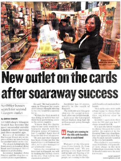 Scribbler Article - Evening Times