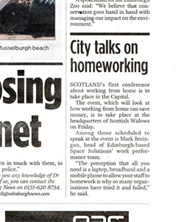 Space Solutions coverage in Edinburgh Evening News courtesy of Holyrood Partnership PR in Edinburgh