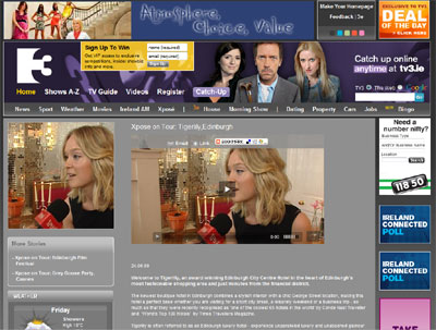 Xpose on TV3 website