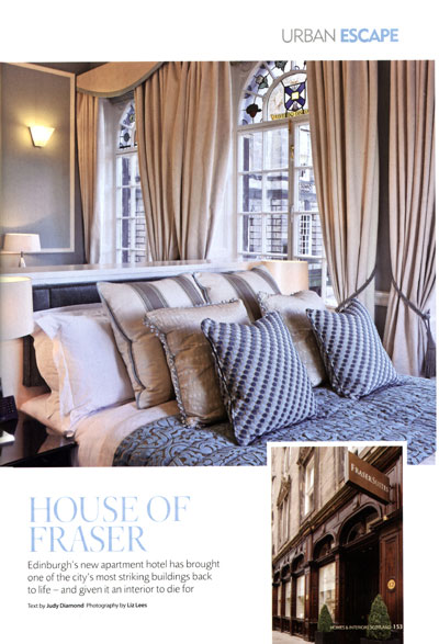 Homes Interiors Scotland PR For Fraser Suites Edinburgh Holyrood