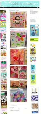 Print & Pattern Website Feature Scribbler Mother's Day Cards