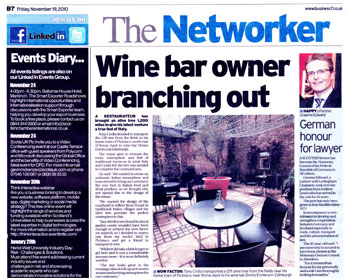 Divino Enoteca coverage secured by Holyrood Partnership PR in Scotland
