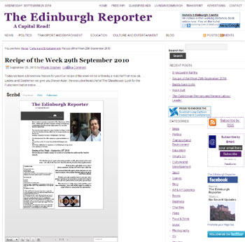 Glasshouse coverage secured by Holyrood Partnership PR in Edinburgh