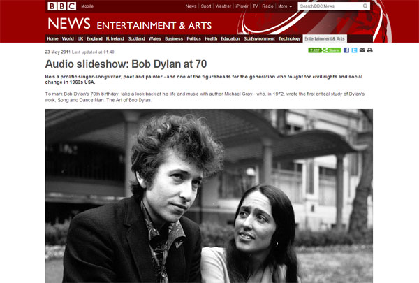HOLYROOD PR FUVE LINKS EDINBURGH BLOG HP SAUCE BBC BOB DYLAN