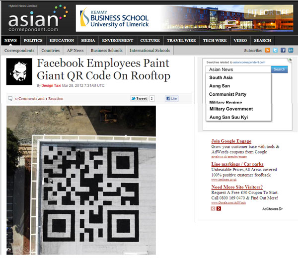 QR CODES Asian Correspondent