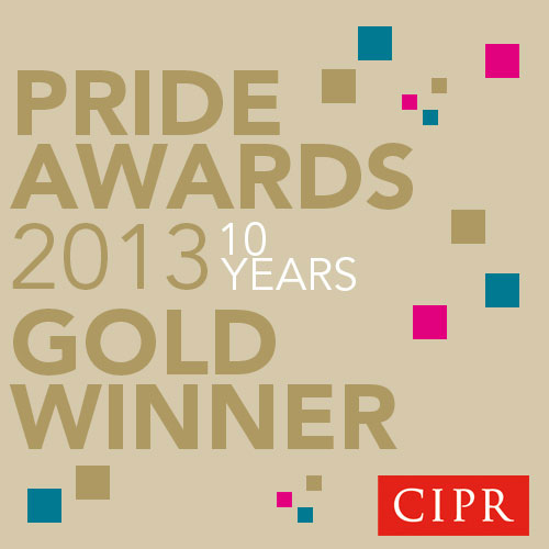 Gold Award from CIPR Scotland PRide awards