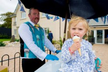 Children had great fun getting their free ice cream thanks to CALA Homes