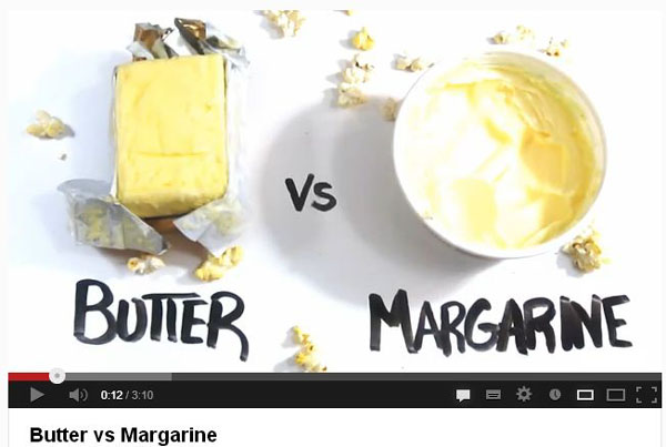 YouTube Butter vs. Margerine