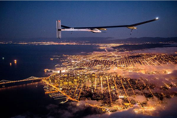 Solar powered plane image
