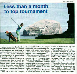 us kids golf east lothian news