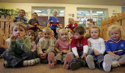 Children at nursery class