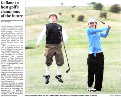 US Kids Golf Scotsman article