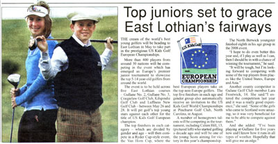 East Lothian Courier article