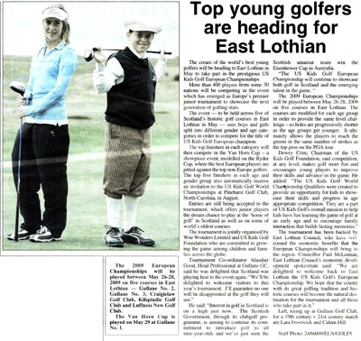 East Lothian News article