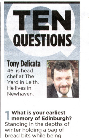 Tony Delicata in Evening News