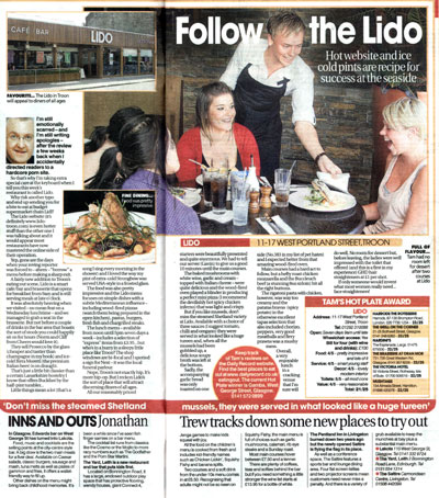 Inns And Outs in the Daily Record