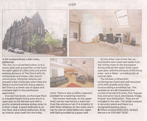 Warners property features in the Scotsman thanks to Holyrood Partnership PR in Edinburgh