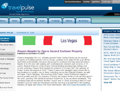 Travel Pulse Website