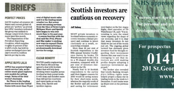 Panton McLeod headlines highlighted by Holyrood Partnership PR in Scotland
