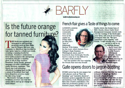 Gatts in the Barfly diary of Scotland on Sunday