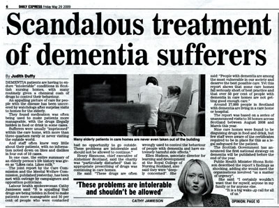 Care Commission coverage in the Daily Express