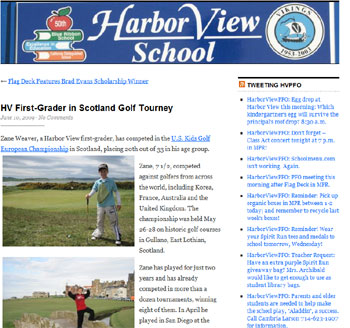 U.S. Kids Golf coverage generated by Holyrood Partnership PR in Scotland