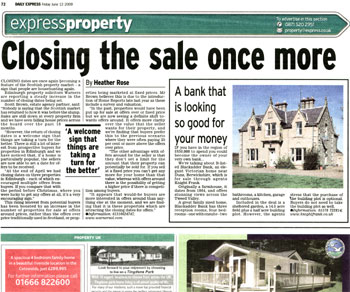 Warners coverage in the Express courtesy of Holyrood Partnership PR in Edinburgh