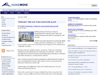 Home Move coverage of Braemore Property Management, highlighted by Holyrood PR PR in Edinburgh