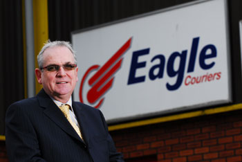 Eagle Couriers director Jerry Stewart.