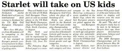 Perthshire Advertiser article