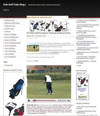 Kids Golf BLog