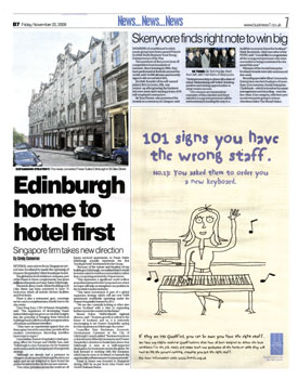 Fraser Suites Edinburgh headlines secured by Holyrood Partnership PR in Scotland