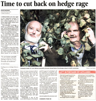Scothedge coverage in The Scotsman thanks to Holyrood Partnership PR in Scotland