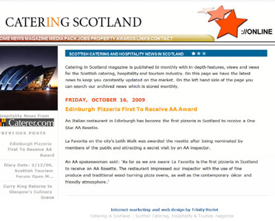 Catering In Scotland Website