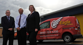 Eagle Couriers directors enjoy media support from Holyrood PR PR in Scotland