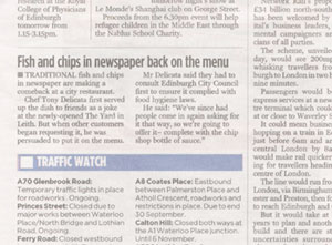 The Yard, Leith in the Evening News