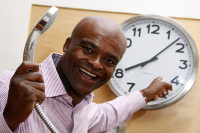 Kriss Akabusi Shower Power campaign