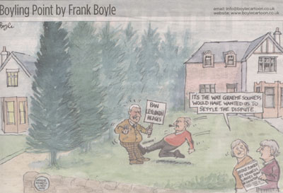 Frank Boyle cartoon on hedge rage