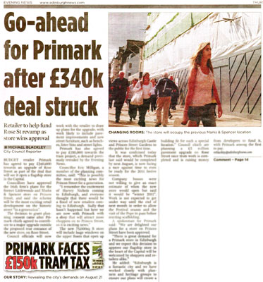 Primark succes in Evening News