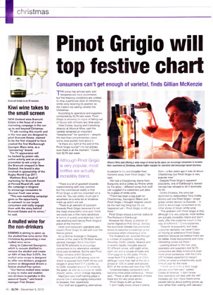 Alliance Wine coverage secured by Holyrood PR PR in Scotland