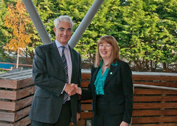 Alistair Darling visits a new charity HQ designed by Space Solutions