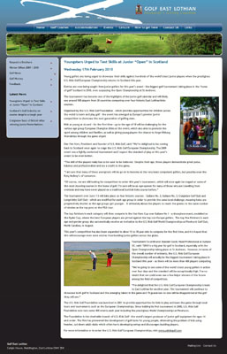 U.S. Kids Golf coverage secured by Holyrood Partnership PR in Scotland