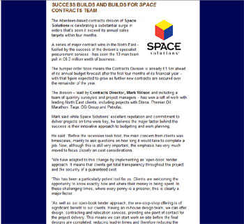 Space Solutions headlines highlighted by Holyrood Partnership PR in Scotland