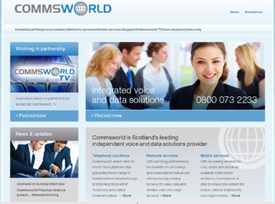Commsworld Website