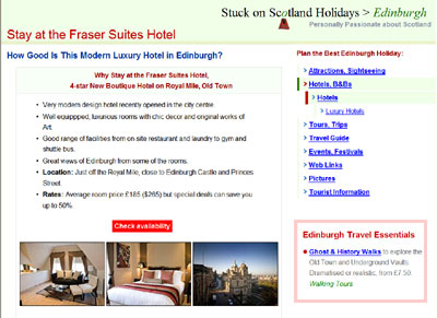 Fraser Suites Edinburgh on Stuck on Scotland Holidays
