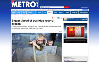 Porridge world record attempt