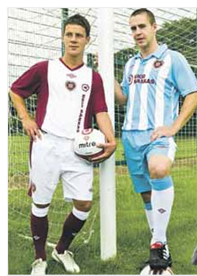 Hearts football kit