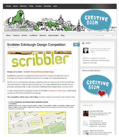 Creative Boom Scribbler Competition