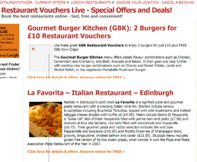 La Favorita on Restaurant Vouchers Live